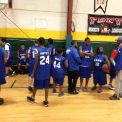 Participants gathered on the court.
