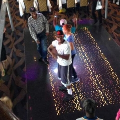 Participants dancing aboard Spirit Cruises.