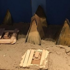 Egyptian Pyramids model built by participants.