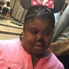A participant is dressed up as Minnie Mouse.
