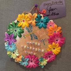 Birthday card handmade by a participant.
