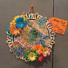 Handmade artistic Birthday Card prepared by a participant for Fran's birthday.