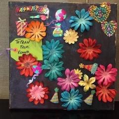 Beautiful handmade birthday card for Fran, a DayHab coordinator.