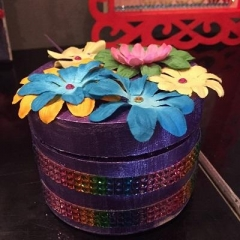 A handmade jewelry box made by a participant.