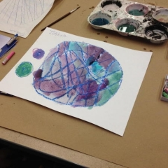 A creative painting by one of the participants.