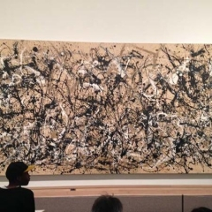 An abstract painting at The MET.