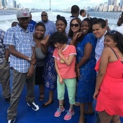 Group picture aboard the cruise.