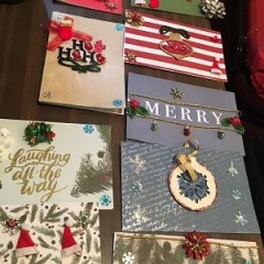 Holiday cards made by Day Habilitation participants.