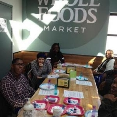 The group visits Whole Foods.