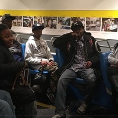 Participants at the Transit Museum.