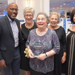 Chris Sims, Susan LoFranco, Honoree Ellen Rubin, Patsy Taylor and Sophia Rossovsky