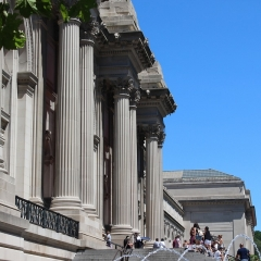The Metropolitan Museum of Art.  ID: Front steps.