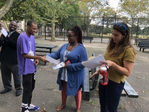 Participant receiving a certificate.
